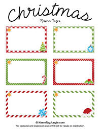 jays name tags christmas names free printable templates places cards vector  set card design