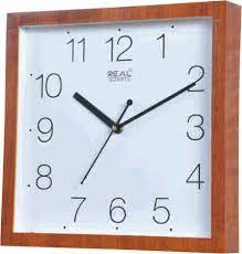 square shaped wall clock display type