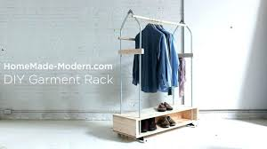 Homemade Metal Coat Rack Beauteous Homemade Metal Coat Rack Transformed Racks On Racks Clothing Clothes