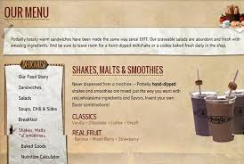 the restaurant information including the potbelly sandwich menu items and s may have been modified since the last update