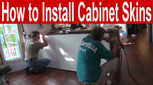 how to install kitchen cabinet skins
