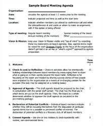 9 Board Meeting Agenda Samples Word Trustee Template Format 2007