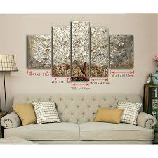 oil painting 5 panel 5 piece canvas