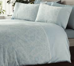 details about lace effect duck egg blue duvet cover printed fl 300 thread count sateen