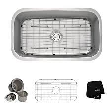 kraus kbu14 31 1 2 inch undermount single bowl 16 gauge stainless steel kitchen sink you