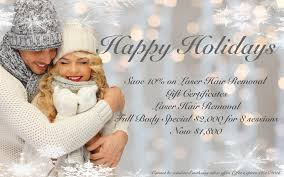 beautysmart holiday offer gift certificates on laser hair removal