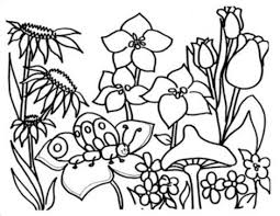 coloring pages for kids flowers. Brilliant Pages Flower Garden Coloring Pages With For Kids Flowers G