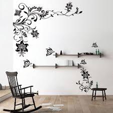 amazing wall decal ideas 9 winning erfly vine flower decals vinyl art stickers living room sticker