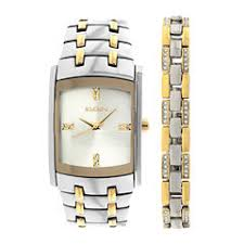 elgin men s watches for jewelry watches jcpenney elgin® mens two tone crystal watch and bracelet