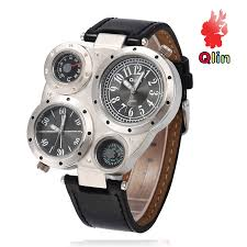 online buy whole personalized mens watch from the compass table dual time zone leather sports personality men s watch luxury watch men relojes hombre