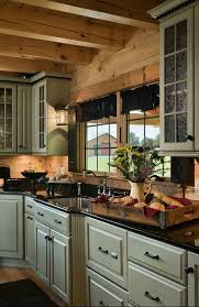 Image Small Cabin Log Home Kitchen Log Home Kitchen Educaciononlinecomco Rustic Kitchens Design Ideas Tips Inspiration