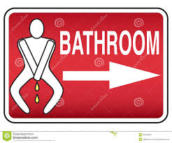 Bathroom sign with arrow Symbol Funny Humorous Bathroom Sign Tigerbytes Funny Humorous Bathroom Sign Stock Illustration Illustration Of
