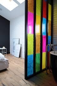 Bathroom Partition Walls Bedroom Bathroom Partition In Colored Plastic Panels Diy Idea