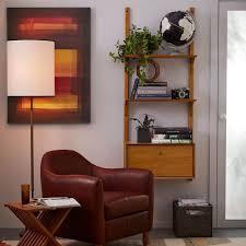 mid century wall shelving cabinet set