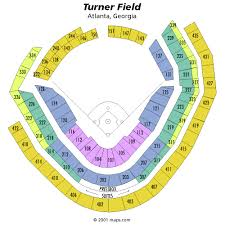 Braves Tickets Seating Chart Turner Field Seating Chart Braves Tickets Atlanta Braves
