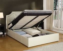 useful king size platform bed frame with storage — interior