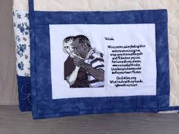 Memorial Quilts   Seams to be you and me & The poem reads: Adamdwight.com