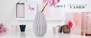 stunning vases concrete interiors accessories grey fluted concrete vase vases and flower holders