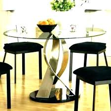 circular dining table for 4 glass tables and chairs kitchen sets circle round white