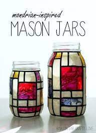 Decorated Mason Jars For Sale 100 Mason Jar Crafts Ideas to Make Sell Mondrian Jar and DIY ideas 27