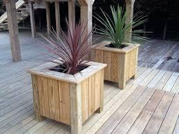 wooden garden planters timber large uk