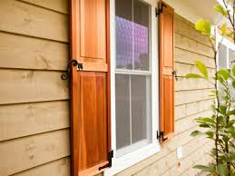 wooden shutters exterior finishing