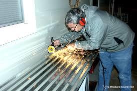 cutting tin roof