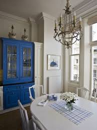 traditional scandinavian furniture. Elegant Eat-in Kitchen Photo In London With Blue Cabinets Traditional Scandinavian Furniture