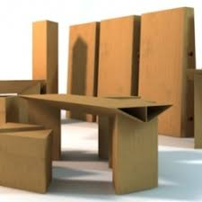Cardboard Furniture Elements Cool Way To Set Up Fairs