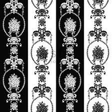 Kinderbehang Barok Behang Zwart Wit