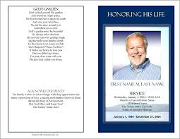 Free Templates For Publisher Funeral Program Template Publisher