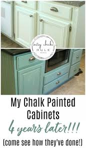 my chalk painted cabinets 4 years later how did they do artsy rule