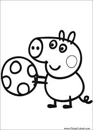 Disegni Per Dipingere Colour Peppa Pig Stampare Realizzazione 003