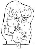 Small Picture Christmas Reindeer Coloring Pages