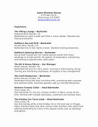Bartender Resume Samples Free Inspirational Bartending Jobs Nyc No