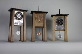 3 blackwell arts and crafts mantle clocks