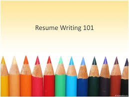 Ppt Resume Writing 101 Powerpoint Presentation Id 2913037