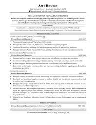 Sample Resume For Human Resources Manager Tomyumtumweb Com