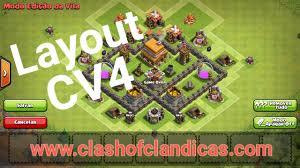 Clash Of Clans Layout De Push Cv4 Clash Of Clans Dicas Clash
