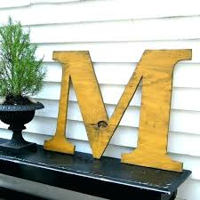 24 inch wood letter wood letter wooden letters large letter inch m distressed extra large wood