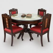 round dining table for 6. Teak Wood 4 Seater Round Dining Table In Warli \u0026 Dhokra Work For 6