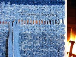 the country farm home rag rug weaving tutorial and tips blue jean denim cotton woven