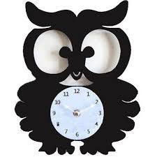 cute owl shape wall clock for wall