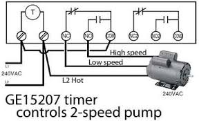 how to wire ge 15136 timer ge 15207 timer controls 2 speed pool pump