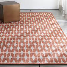 fabulous indoor outdoor rugs aldo mandarin orange outdoor rug crate and barrel