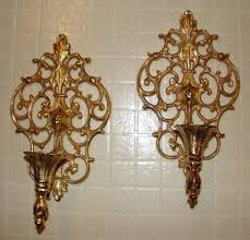 metal wall art with candles luxury vintage pair ornate gold tone metal wall sconces candle on vintage metal wall art gold with metal wall art with candles luxury vintage pair ornate gold tone