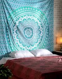 turquoise mandala tapestries turquoise wall tapestry blue mandala tapestry