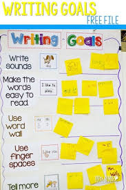 Goal Chart Examples Free Writing Goals And Writing Paper For Kindergarten And