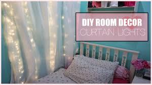 Diy Curtains With Lights Diy Room Decor Curtain Lights