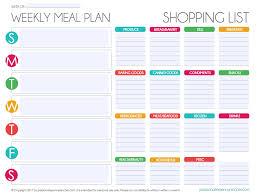 Free Editable Menu Plan And Grocery List